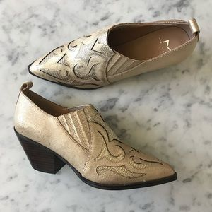 Marc Fisher Charlie Western Bootie—Gold